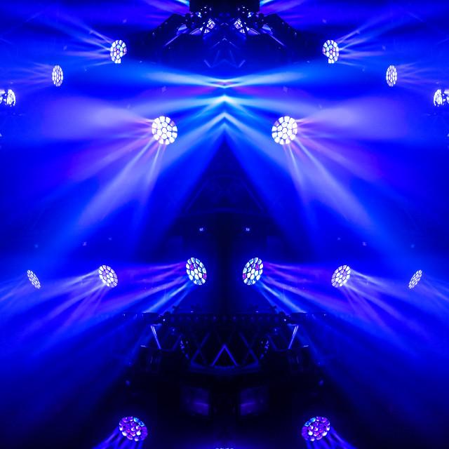 """Stage lighting mirror"" stock image"
