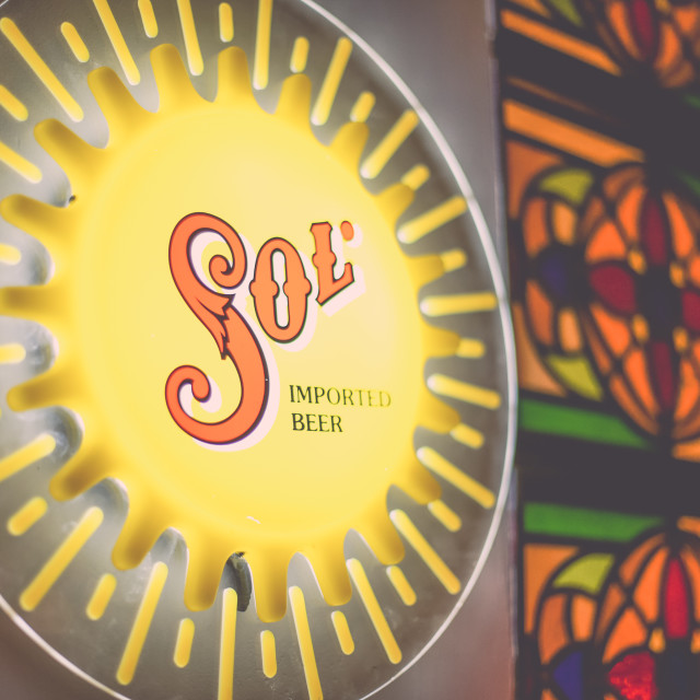 """""""Sol beer sign 2"""" stock image"""