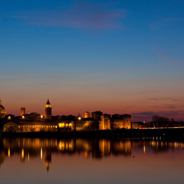 """Sunset on Mantova"" stock image"