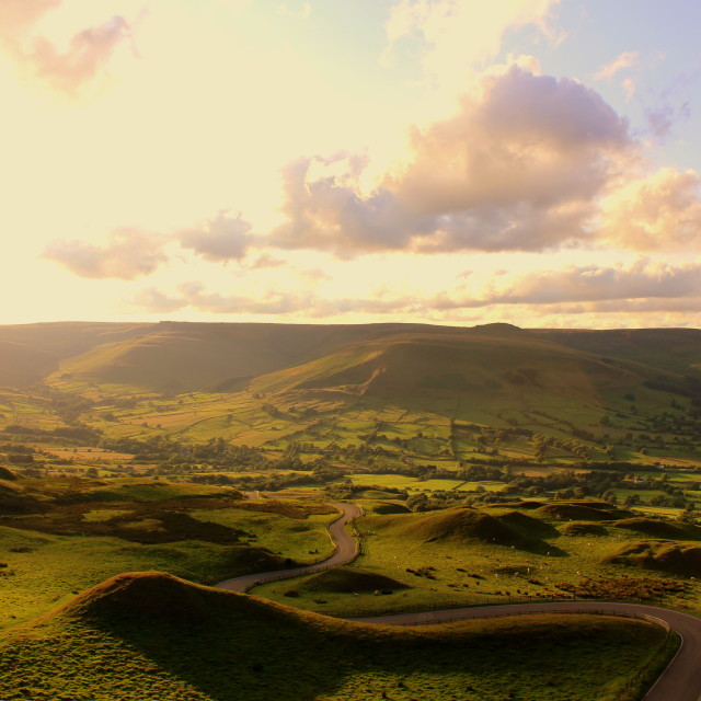 """Road to edale again"" stock image"
