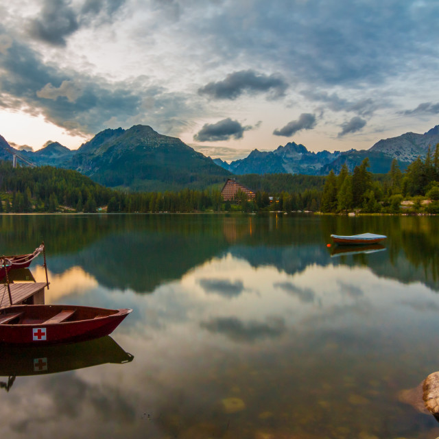"""Strbske Pleso reflection"" stock image"