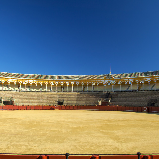 """Bullfight arena in Seville"" stock image"
