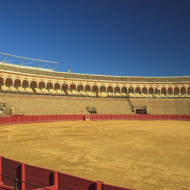 """Bullfighting arena Seville"" stock image"