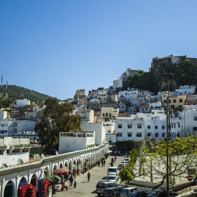 """Town center of Moulay Idriss"" stock image"