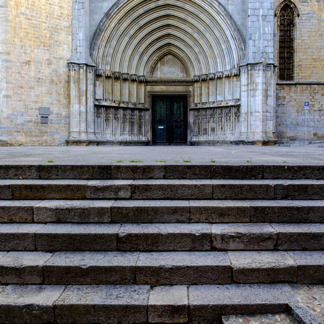 """Cathedral of Girona"" stock image"