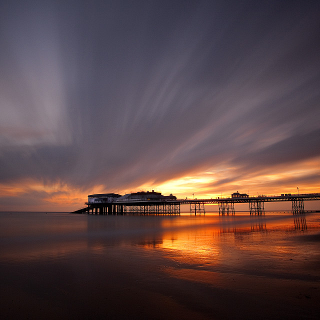 """Cromer Pier Sunrise"" stock image"