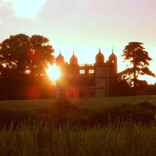 """""""Gatehouse at sunset"""" stock image"""