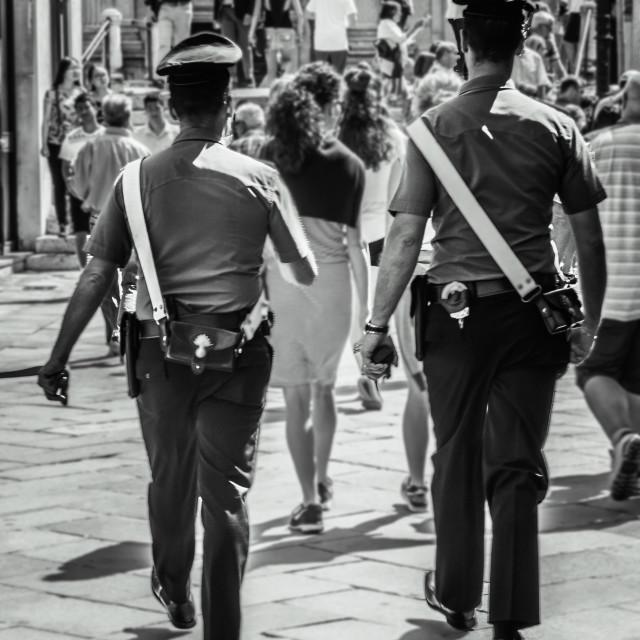 """""""VENICE POLICE"""" stock image"""