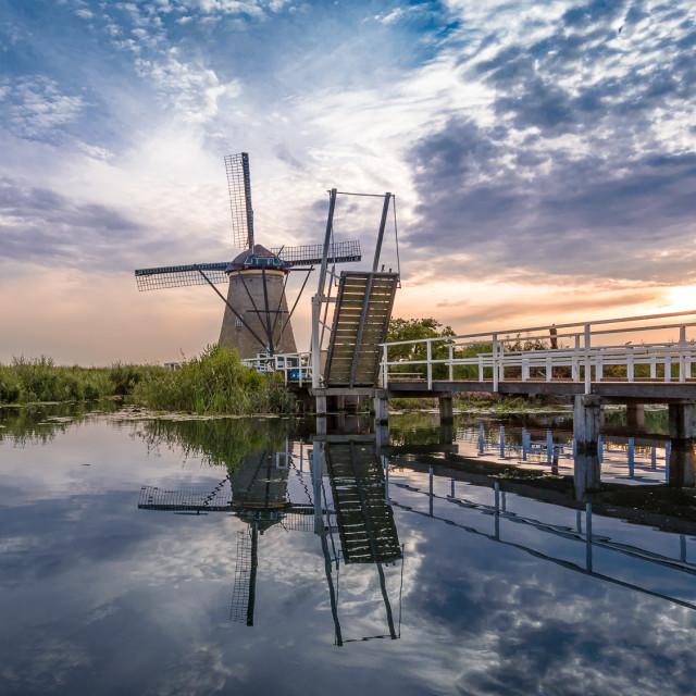 """""""Kinderdijk windmill"""" stock image"""