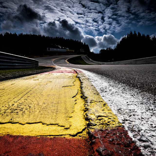 """Eau Rouge and Radillon"" stock image"