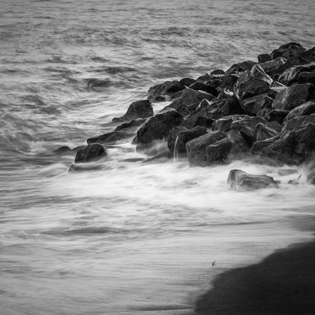 """""""Wave over stones"""" stock image"""