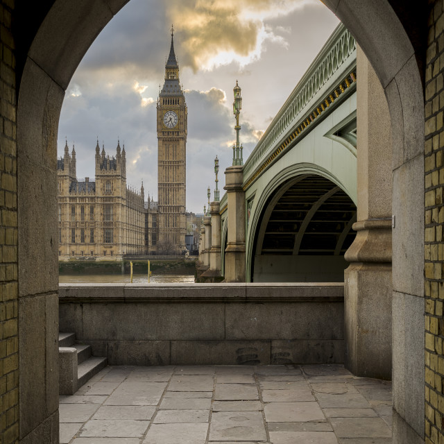 """""""Doorway to Palace of Westminster"""" stock image"""
