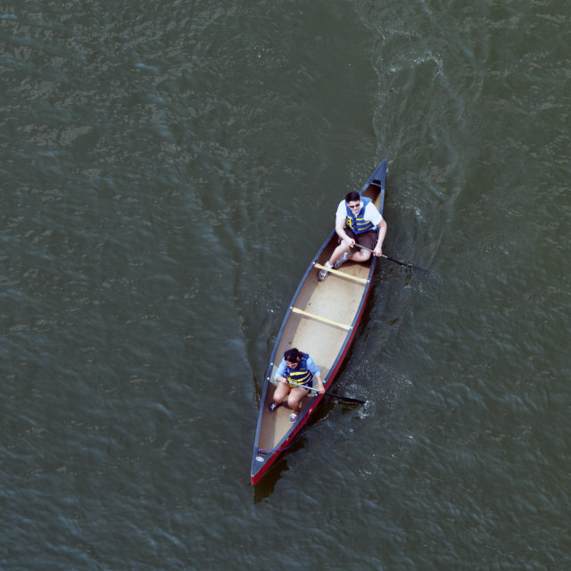 """Canoe Couple"" stock image"