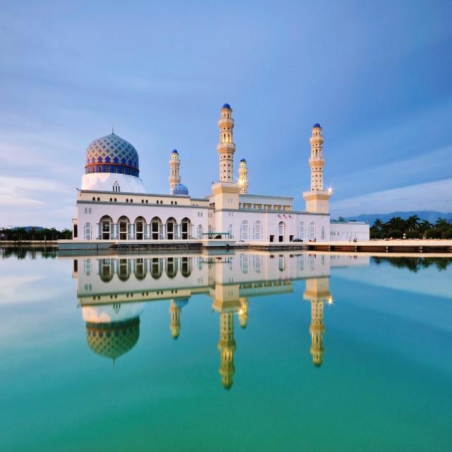 """Kota Kinabalu city Mosque in Malaysia"" stock image"
