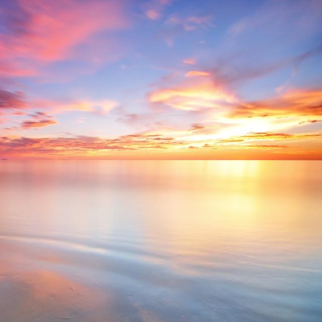 """""""Background long exposure sunset"""" stock image"""