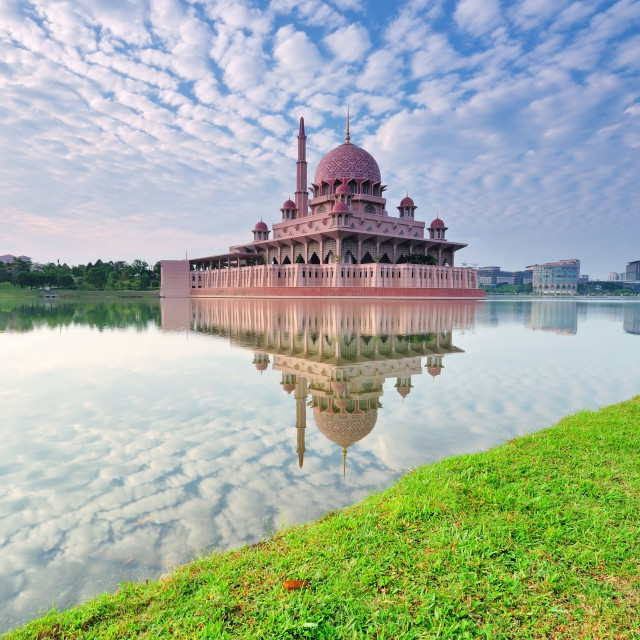 """Putrajaya Mosque in Kuala Lumpur"" stock image"