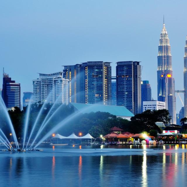 """Kuala Lumpur night Scenery, Malaysia"" stock image"