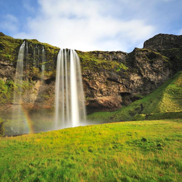 """Seljalandsfoss, waterfall in Iceland"" stock image"