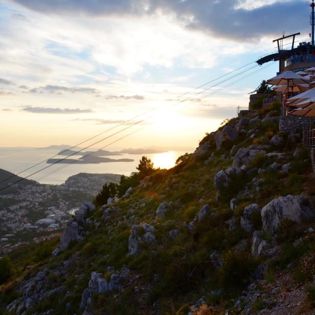 """Sunset on Dubrovnik"" stock image"