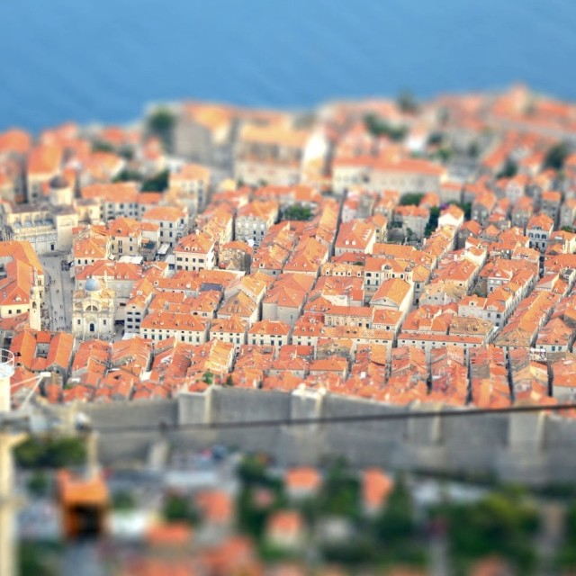 """""""Dubrovnik Tilt Shift"""" stock image"""