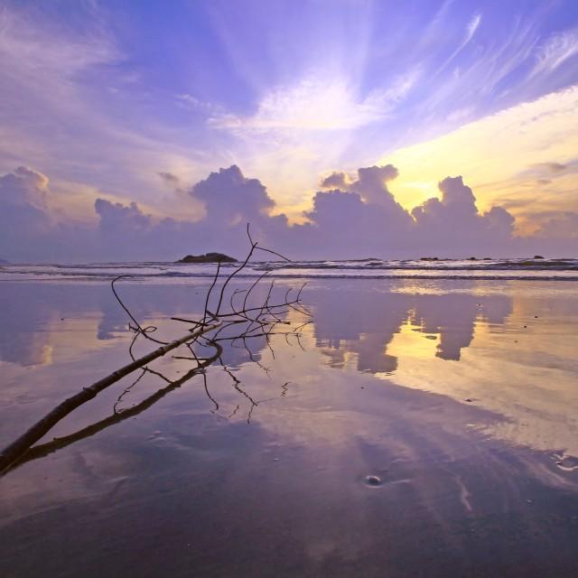 """Balok Beach ~ Sunrise"" stock image"
