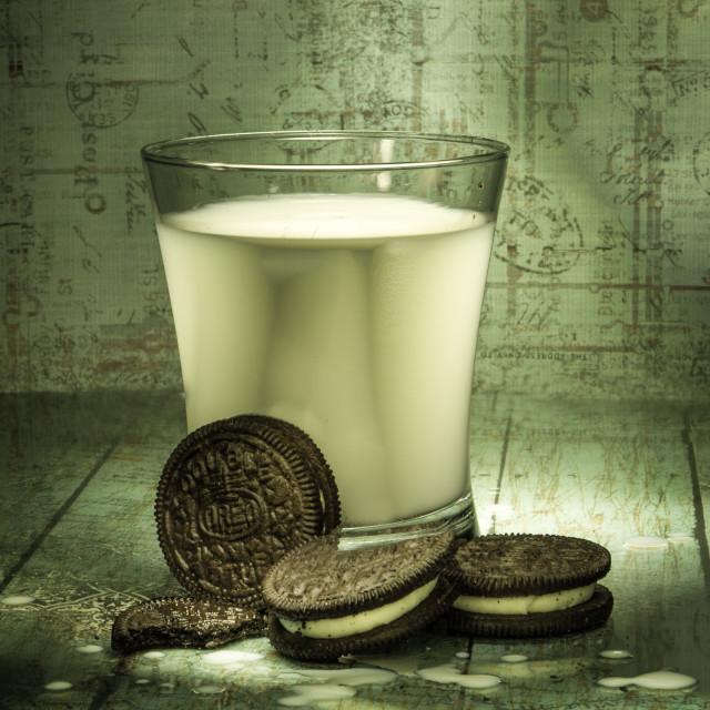 """""""Oreos and Milk"""" stock image"""