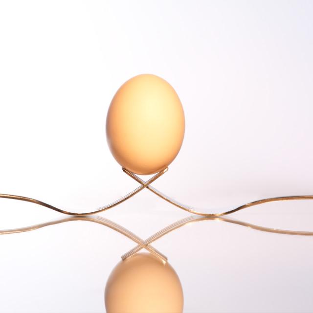 """Balancing Egg"" stock image"