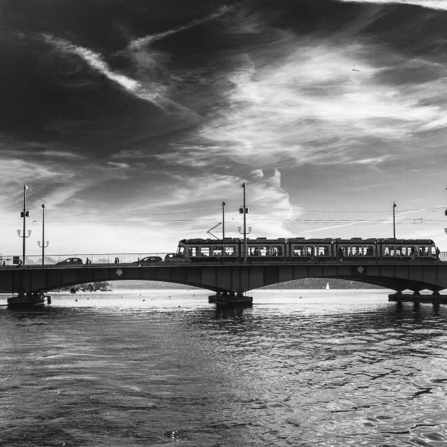 """""""Quai Bridge"""" stock image"""