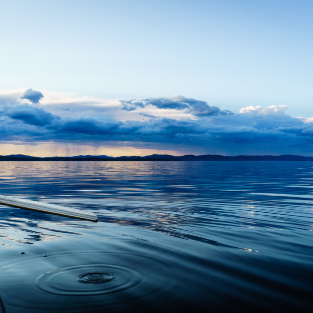 """Lake Champlain Sunset"" stock image"