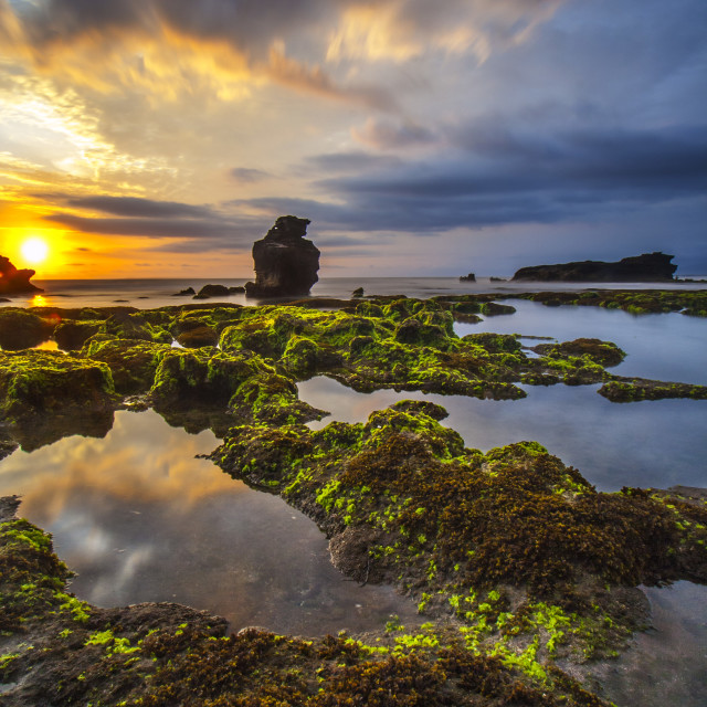 """""""Beautiful Bali Sunset"""" stock image"""