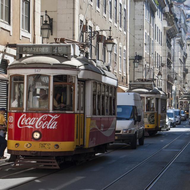 """tram Lisbona"" stock image"