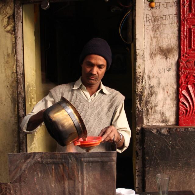 """""""Making Tea"""" stock image"""