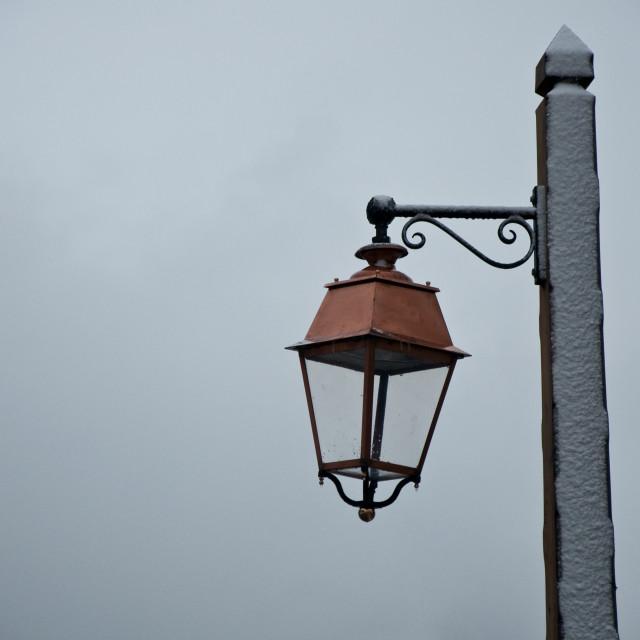 """Snowy Lampost"" stock image"