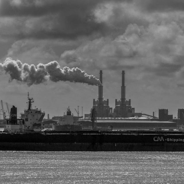 """""""Hoek Harbour industrial"""" stock image"""