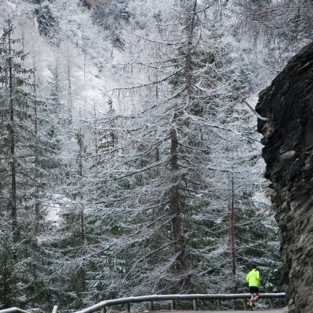 """Running in snow"" stock image"