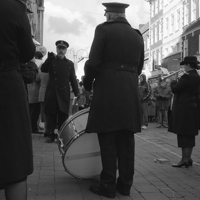 """""""Salvation Army Band"""" stock image"""