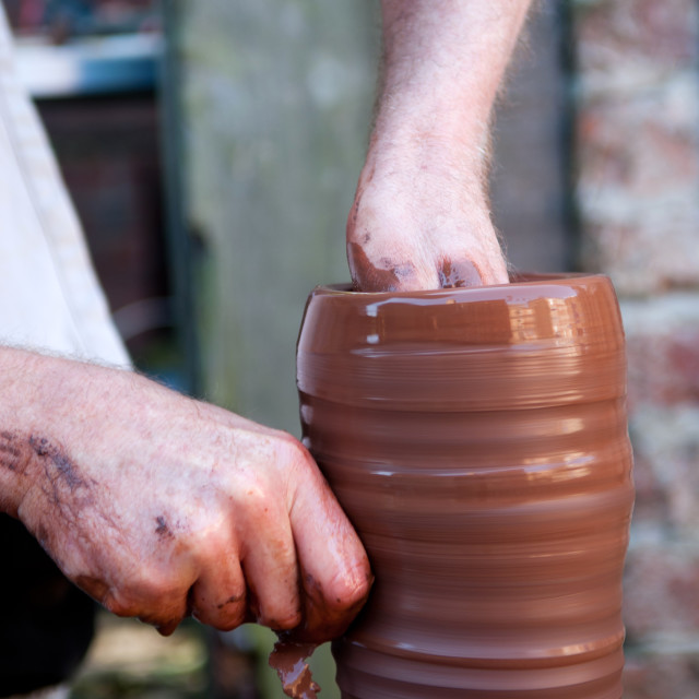 """The Potter"" stock image"