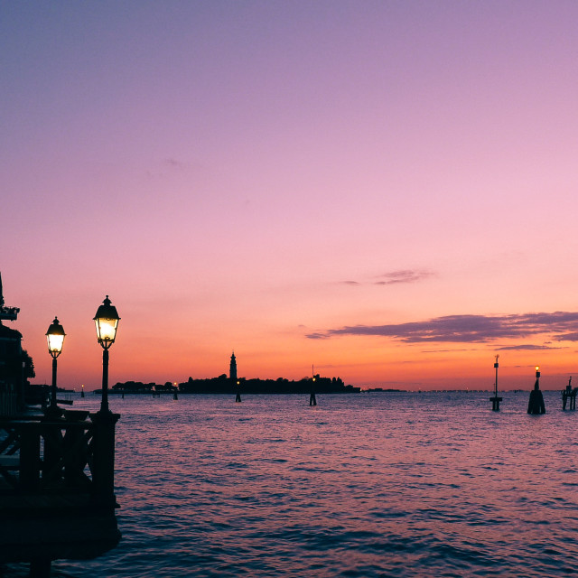 """""""Soothing Sunset"""" stock image"""