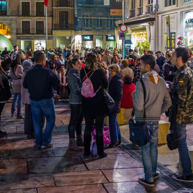 """Malaga Street View"" stock image"