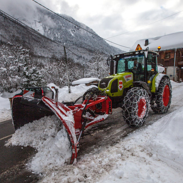 """Snowplough"" stock image"