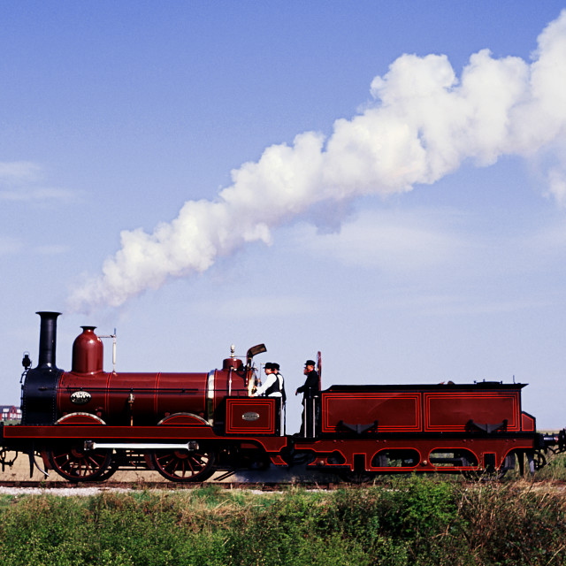 """Historic train passing"" stock image"