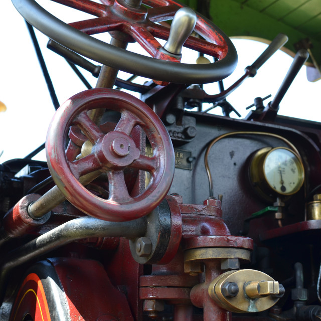 """""""Cab on a traction engine."""" stock image"""