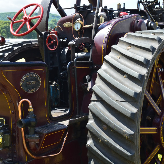 """""""Vintage traction engine."""" stock image"""