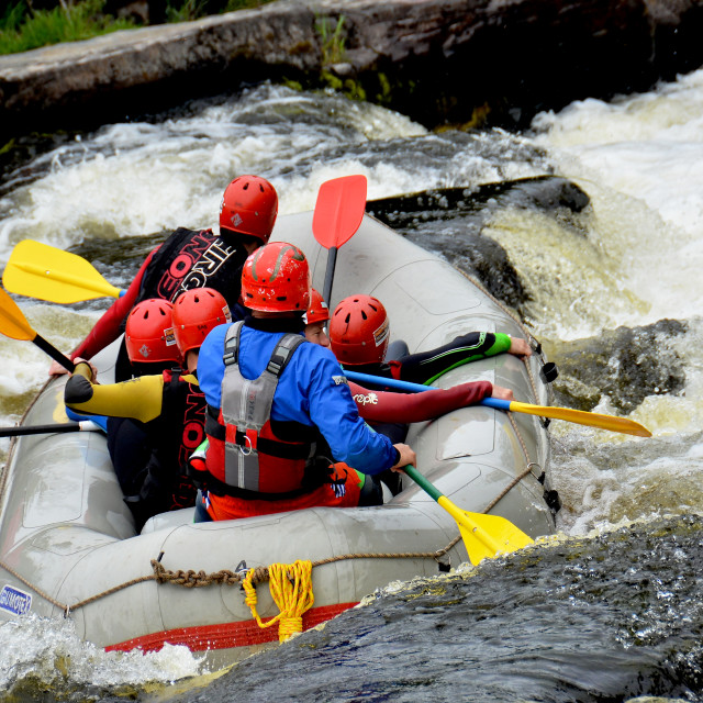 """White water rafting"" stock image"