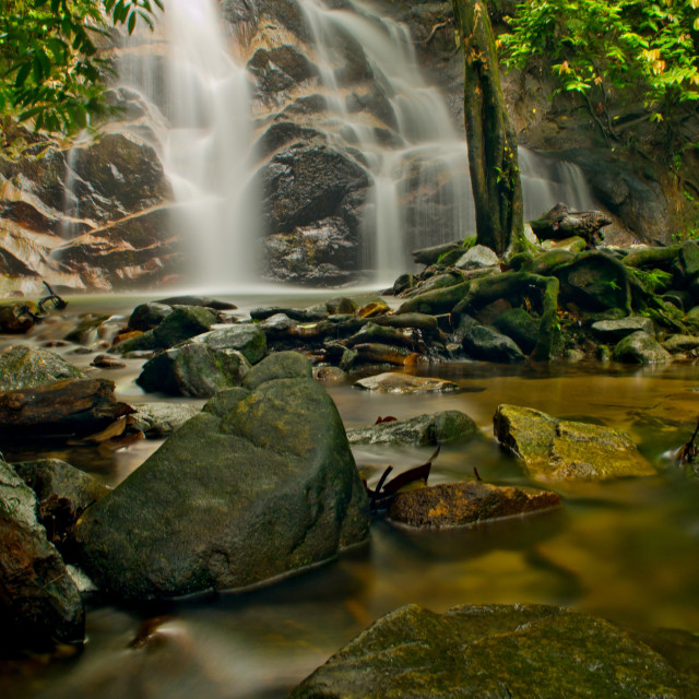 """Malaysian Waterfall"" stock image"