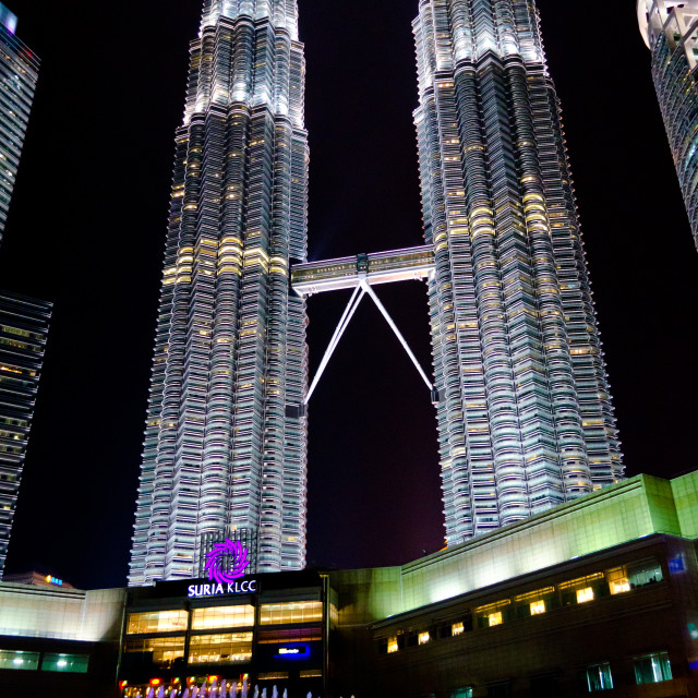 """Petronas Twin Tower (KLCC) at night"" stock image"