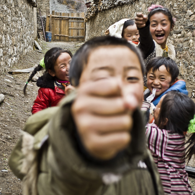 """tibet children"" stock image"