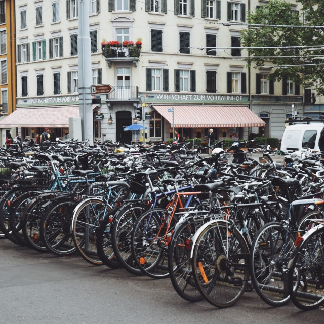 """bicycle parking spot"" stock image"