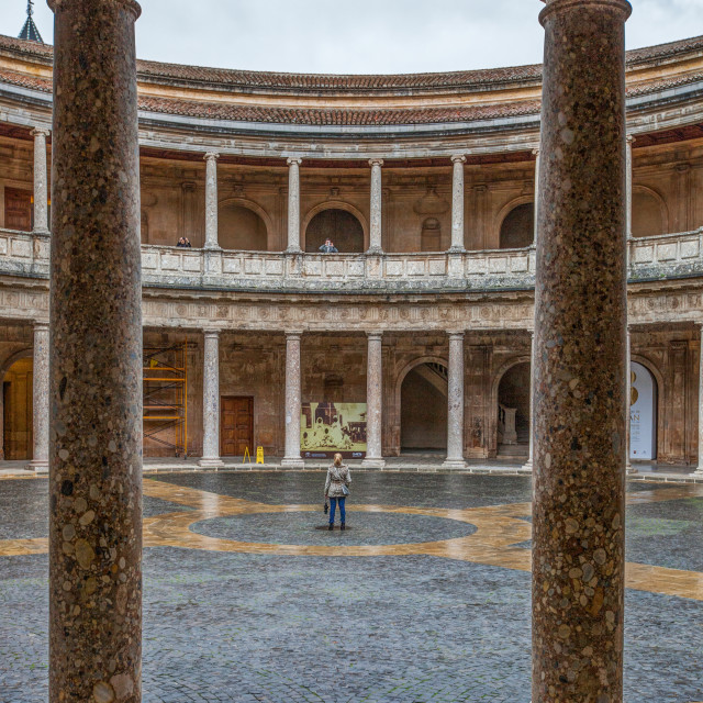 """Charles V Palace, Alhambra, Spain"" stock image"