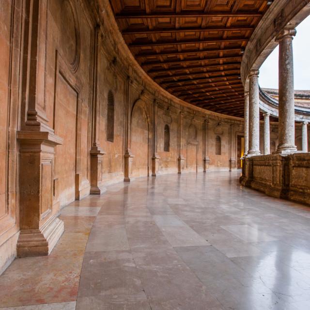 """Charles V Palace, Alhambra, Spain"" stock image"
